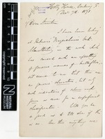 Sent by Alfred Russel Wallace to Henry Tibbats Stainton on 07 December 1871.