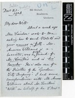 Sent by Alfred Russel Wallace to William Greenell Wallace on 02 December 1908.