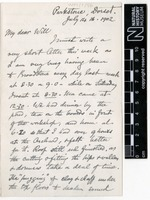 Sent by Alfred Russel Wallace to William Greenell Wallace on 14 July 1902.