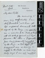 Sent by Alfred Russel Wallace to William Greenell Wallace on 17 December 1908.