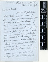 Sent by Alfred Russel Wallace to Violet Isabel Wallace on 14 December 1896.