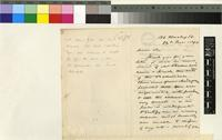 Letter from Henley Grose Smith to the Royal Botanic Gardens, Kew; from 136 Harley St., London; 24 Nov 1890; two page letter comprising two images; folio 86