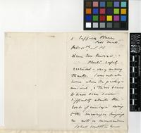 Letter from Michael Grabham to Daniel Morris; from Pall Mall, London; 11 Oct 1884; two page letter comprising two images; folio 61