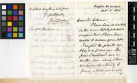 Letter from Sir Frederick Grey to Sir William Jackson Hooker; from Kempton Vicarage; 8 Oct 1860; Four page letter comprising two images; folio 105