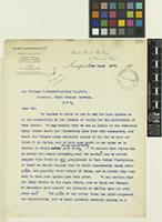 Letter and press cuttings from Edward Lawrence & Co to Sir William Thiselton-Dyer; from Union Bank Buildings, 5 Fenwick Street, Liverpool, [England]; 14 Mar 1905; three page item comprising three images; folios 198 - 201