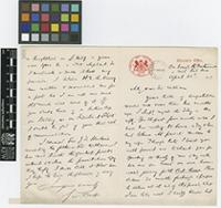 Letter from Sir George Watt to Sir William Thiselton-Dyer; from on board HMS 'Britannia'; 26 Apr 1903; two page letter comprising one image; folio 369