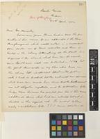 Letter from Charles Ford to Sir William Thiselton-Dyer; from Beech Grove, Ripon, [England]; 22 Apr 1904; three page letter comprising three images; folio 291-292