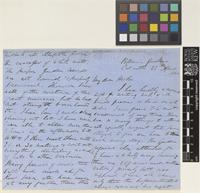 Letter from Thomas Anderson to Sir Joseph Dalton Hooker; from Botanical Gardens, Calcutta [Kolkata, India]; 22 Apr 1861; eight page letter comprising four images; folios 12 - 13