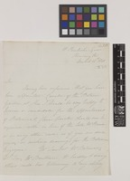 Letter from Mrs Augusta Innes Withers to Sir William Jackson Hooker; from 15 Pembroke Square, Kensington, [London, England]; 12 Mar 1841; two page letter comprising two images; folio 435