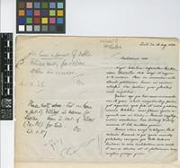 Letter from Luis Sodiro to William Jackson Hooker; from Quiti [Quito, Ecuador]; 14 Aug 1886; two page letter comprising two images; folio 641