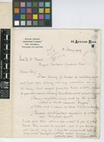 Letter from William Crosley to Sir David Prain; from 65 Addison Road, London; 3 May 1909; one page letter comprising one image; folio 292