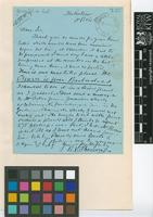 Letter from R.V.[Richard Vowell] Sherring to Sir William Thiselton-Dyer; from Hallatrow near Bristol; c.21 Apr 1894; two page letter comprising two images; folio 127
