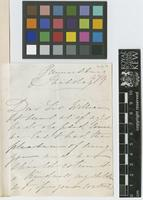 Letter from C.L.[Charlotte Baroness Lionel] de Rothschild to Sir William Jackson Hooker; from Gunnersbury; c.1858; two page letter comprising two images; folio 479