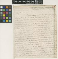 Letter from John Gillies to Sir William Jackson Hooker; from Portobello, [Edinburgh, Scotland]; 13 Aug 1829; four page letter comprising three images; folio 63