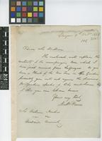 Letter from Mathew Pearce to Sir William Jackson Hooker; from Glasgow; 9 Oct 1838; two page letter comprising two images; folio 102