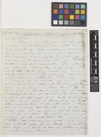 Letter and plant material from Ronald C.[Campbell] Gunn to Sir Joseph Dalton Hooker; from Penquite, [Tasmania, Australia]; 24 Jan 1845; four page letter comprising four images; folios 108 - 109