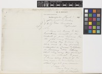 Letter from W.G.[William Greenwood] Wright to Sir Joseph Dalton Hooker; from San Bernardino, California, [United States of America]; 7 Mar 1883; one page letter comprising one image; folio 471