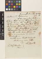 Letter from F.[Francis] Boott to Sir William Jackson Hooker; from Gower Street, [London, England]; 14 Mar 1843; two page letter comprising two images; folio 49