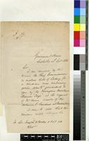 Letter from James Brodie to Sir Joseph Dalton Hooker; from Grosvenor House, Seychelles; 24 Sept 1881; two page letter comprising two images; folio 210