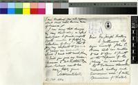 Letter from A.B. Mitchell to Sir Joseph Hooker; from Natal, South Africa; 21 Oct 1884; four page letter comprising two images; folio 1293