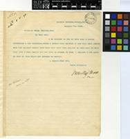 Letter from Mr. J. Medley Wood to the Director of the Royal Botanic Gardens, Kew; from the Natal Botanic Gardens, Durban, South Africa; 7 Oct 1898; one page letter comprising one image; folio 1906.