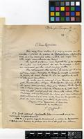 Letter from J. Goffart to Sir Arthur William Hill; from Agla Tangier; 12 Sep 1923; Two page letter comprising two images; folios 31