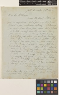 Letter from J.G.[John George] Champion to Sir William Jackson Hooker; from Galle, [Sri Lanka ex-Ceylon]; 17 Dec 1845; one page letter comprising one image; folio 85