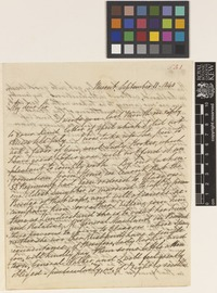 Letter from A.W.[Anna Maria] Walker to Sir William Jackson Hooker; from Meerut, [India]; 11 Sep 1840; four page letter comprising four images; folio 531