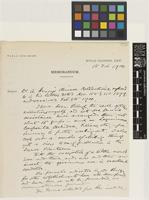 RBGK memorandum from William Botting Hemsley; 15 Feb 1900; two page memorandum comprising two images; folio 759