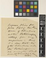 Note from W.B.H.[William Botting Hemsley]; from the Royal Botanic Gardens, Kew; c.Oct 1891; one page note comprising one image; folio 1021