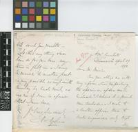 Letter from H. Hyndham to Daniel Morris; from H.M. Consulate, Paramaribo; 29 Apr 1892; four page letter comprising two images; folio 151