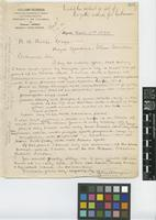 Letter from Guillermo Kalbreyer to R.A. [Robert Allen] Rolfe; from Bogotá; 2 Apr 1894; one page letter comprising one image; folio 303