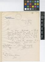 Letter from E.[Ernest] Hambloch to Sir David Prain; from Carlton Hotel, Southsea; 16 Feb 1914; one page letter comprising one image; folio 173