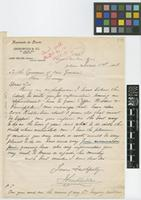 Letter from John Miller, General Manager, Greenwood & Co, to Sir William Thiselton-Dyer; from Hacienda de Doxie, Jaltipan, Estado de Vera Cruz, Mexico; 1 June 1898; one page letter comprising one image; folio 171