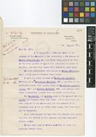 Letter from William Harris, Superintendent of Public Gardens to Sir Arthur William Hill; from Department of Agriculture, Hope Gardens, Kingston P.O., Jamaica; 19 Aug 1914; two page letter comprising two images; folios 419 - 420