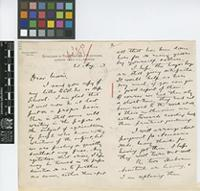 Letter from William Fawcett to Daniel Morris; from the Department of Public Gardens and Plantations, Gordon Town P.O., Jamaica; 21 Aug 1893; four page letter comprising two images; folio 412