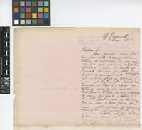 Letter from H.[Henry] Prestoe to The Royal Botanic Gardens, Kew; from 'off Plymouth'; 15 June 1868; two page letter comprising two images; folios 416