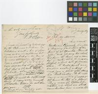 Letter from R.B.C.[Robert B. Cropper] to Daniel Morris; from St Lucia; 17 Jan 1889; four page letter comprising two images; folio 356