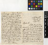 Letter from James Morris to Sir William Jackson Hooker; from 8 Great Ormond Street, Queen Square; 5 May 1858; four page letter comprising two images; folio 416