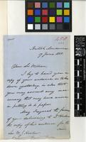 Letter from A. Panini to Sir William Jackson Hooker; from The British Museum; 17 June 1858; two page letter comprising of two images; folio 458
