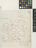 Letter from L. Guilding to Sir William Jackson Hooker; from Kingstown, St Vincent; 28 Mar 1830; one page letter comprising one image; folio 55