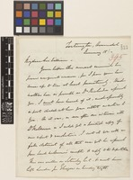 Letter from Edward Sabine to Sir William Jackson Hooker; from Tortington, Arundel, [England]; 15 Jan c.1839; four page letter comprising four images; folio 395