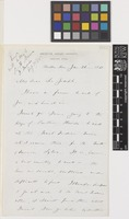 Letter and note from C.S.[Charles Sprague] Sargent to Sir Joseph Dalton Hooker; from Arboretum, Harvard University, Brookline, Massachusetts, [United States of America]; 26 Jan 1885; four page item comprising four images; folios 882 - 883
