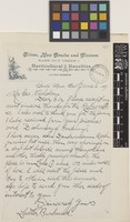 Letter from Luther Burbank to George Nicholson; from Santa Rosa, California, [United States of America]; 6 June 1891; one page letter comprising one image; folio 82.