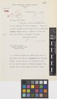 Letter from C.S.[Charles Sprague] Sargent to Sir David Prain; from Arnold Arboretum, Harvard University, Jamaica Plain, Massachusetts, [United States of America]; 27 Nov 1914; one page letter comprising one image; folio 456