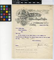 Letter from J. Miles and Co. Ltd. to R. A. Rolfe Esq.; from London; 27 Aug 1910; one page letter comprising one image; folio 230