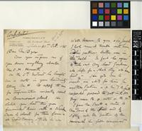 Letter from Thomas Christy to Sir William Thiselton-Dyer; from Fenchurch Street, London; 31 Oct 1885; three page letter comprising two images; folio 86