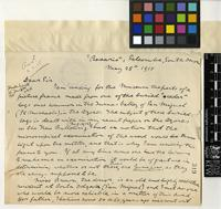 Letter from H. B. Guppy to Sir David Prain; from Rosario, Salcombe, South Devon; 28 May 1915; Two page letter comprising two images; folio 319