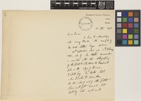 Letter from A.[Andrew Thomas] Gage to Sir David Prain; from Government Cinchona Plantation, Sureil, Sonada, [India]; 10 Apr 1906; two page letter comprising two images; folio 68
