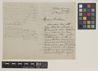 Letter from John Thomas Brooks to Sir William Jackson Hooker; from Flitwick House, Ampthill, [England]; 8 Nov 1841; three page letter comprising two images; folio 61